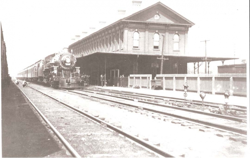 Brotherhood of Locomotive Engineers Special at the station May 21, 1910, completing 224 miles in 217 minutes