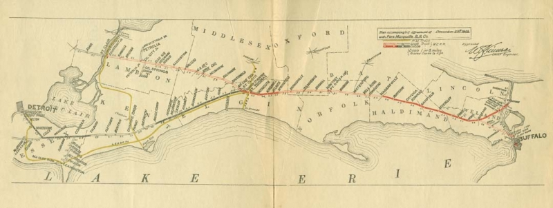 MCR Canadian Division Map accompaning agreement with the PM 1903