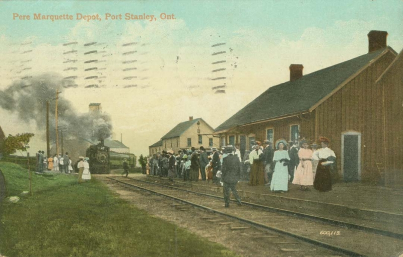 PMRR depot Port Stanley about 1900